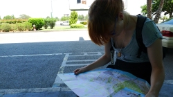 Checking the map at Lisbon Airport. Are we lost already?