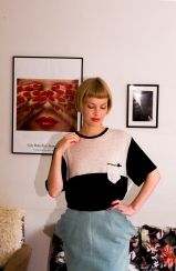 gingerbread skirt and knot pocket tee